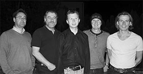with Willi Eisner (g), Stefan Fritz (sax), Artur Egger (b) and Harry Gschösser (dr)